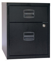 Bisley A4 Mobile Home Filer 2 Drawer Black