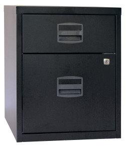 Bisley A4 Mobile Home Filer 2 Drawer Black