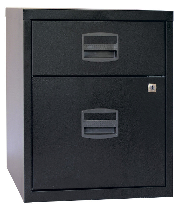 Image of Bisley A4 Mobile Home Filer 2 Drawer Black