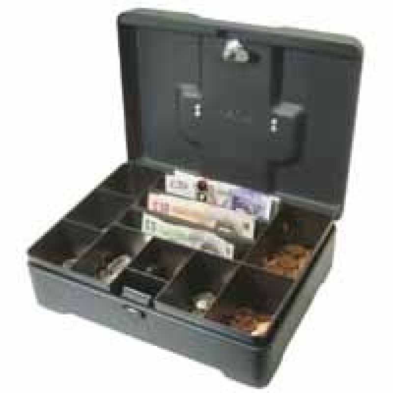 Image of Helix High Capacity 12 Inch Cash Box - Anthracite