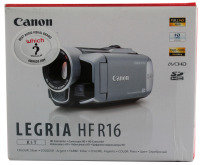 Canon LEGRIA HF R16 - Camcorder - High Definition - Widescreen Video Capture - 2.39 Mpix - optical zoom: 20 x - supported memory: SD, SDHC - flash card - silver
