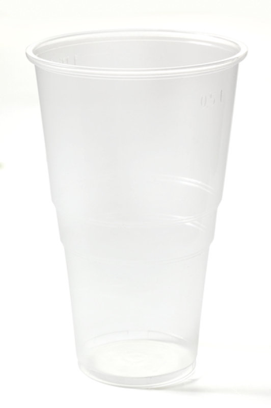 CPD Clear Plastic Pint Glass - 50 Pack