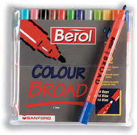 BEROL COLOUR BROAD ASSORTED WALLET 24