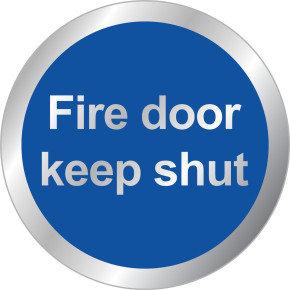 SIGNSLAB 60MM FIRE DOOR KEEP SHUT SYMBOL
