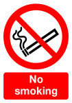 SIGNSLAB A4 297X210 NO SMOKING PVC