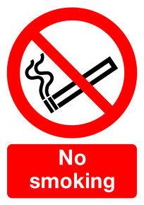 SIGNSLAB A4 297X210 NO SMOKING PVC
