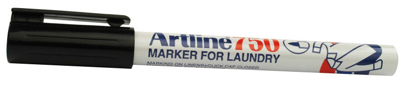 Image of Artline Laundry Marker Black 750 - 12 Pack