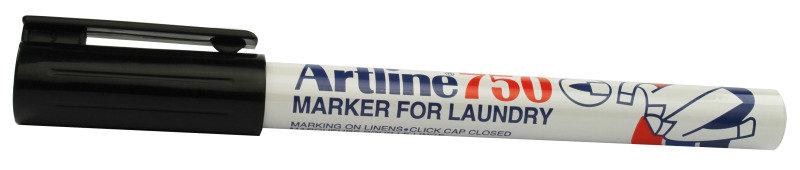 Artline Laundry Marker Black 750 - 12 Pack