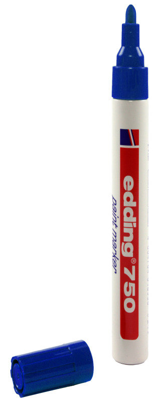 Image of Edding Paintmarker Opaque Blue 750 - 10 Pack