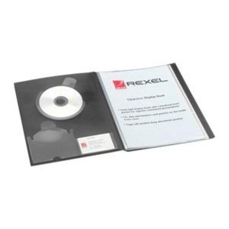 REXEL CLRVIEW DSP BK A4 24PKT BLK 10320