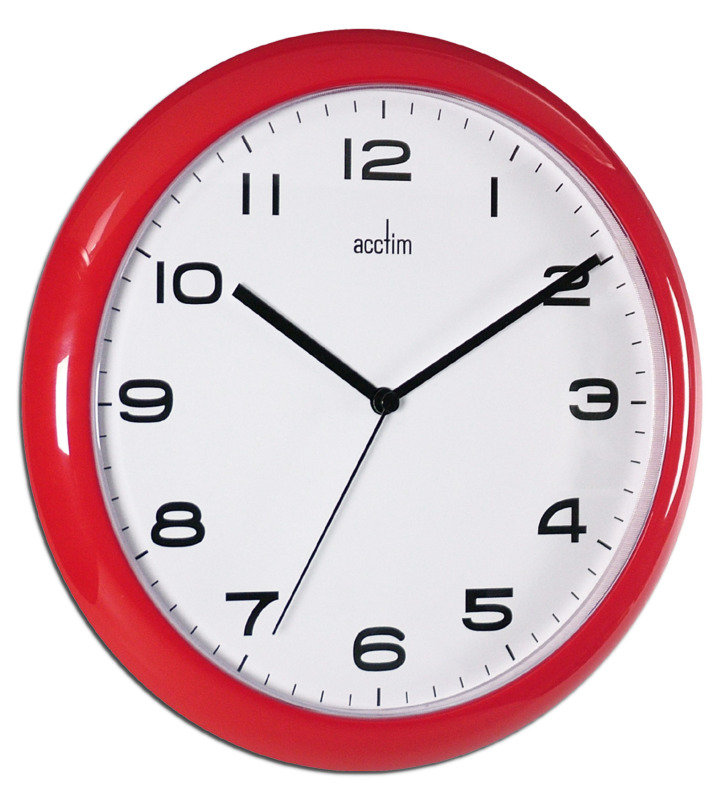 Image of ACCTIM AYLESBURY WALL CLOCK RED 92/303