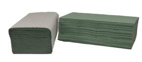 2Work I-Fold Hand Towel 1 Ply Green 242x222mm (Pk 3600)