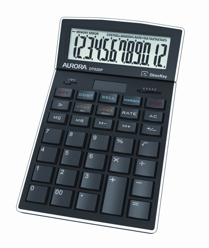 Image of Aurora DT920P Desk Calculator - Black