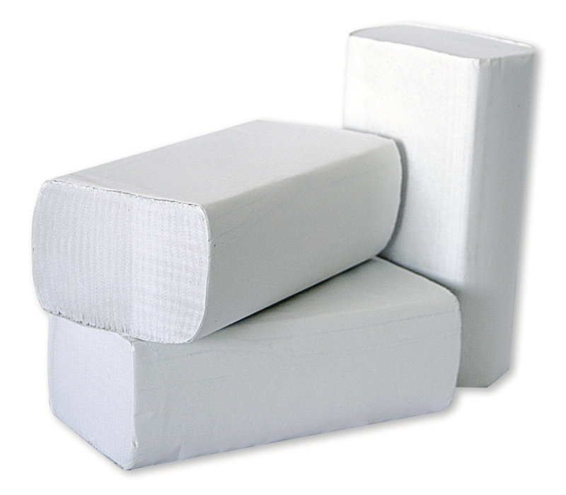 2Work White 1 Ply Multi-Fold Hand Towel (Pack of 3000)