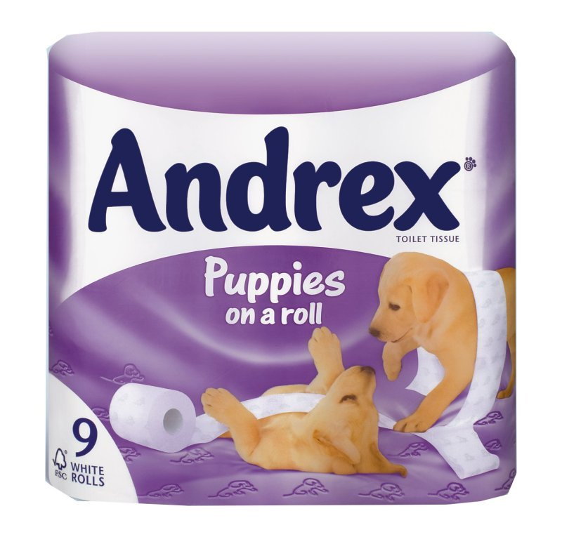 Image of Andrex Pups Bathroom Tissue Wht 4978748 - 9 Pack