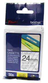 Brother TZe 151 Laminated adhesive tape- Black on Clear