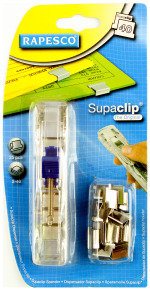 Rapesco Supaclip® 40 See Through Dispenser & 25 Stainless Steel Clips