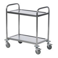 TROLLEY 2 SHELF 600X400 SILVER 375608