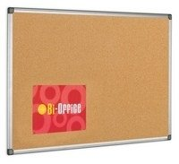 BI OFFICE CORK BOARD 1200X900 ALUM FRAME