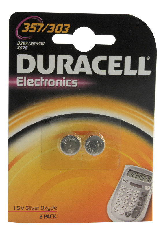 DURACELL BATTRY BUTTON S/OX PK2 1.5 D357