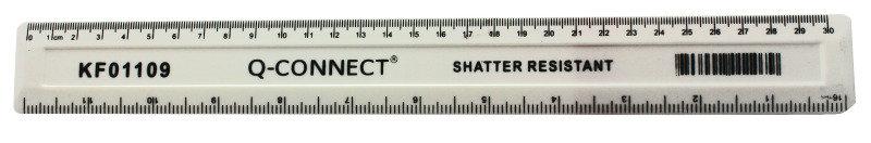 QConnect 30cm shatterproof ruler - White