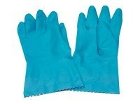 Caterpack Blue Medium Rubber Gloves - 6 Pack