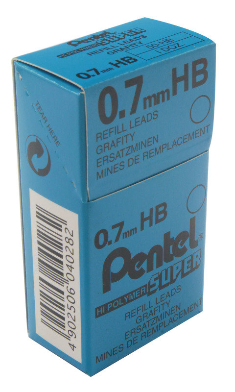 Pentel Leads 0.7mm Tube12 Hb 50 - 12 Pack