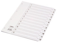 CONCORD INDEX 1-12 A4 CLEAR TAB CS12