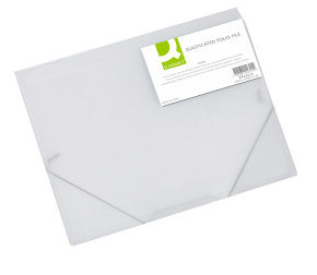 Q CONNECT ELASTICATED FOLIO CLEAR