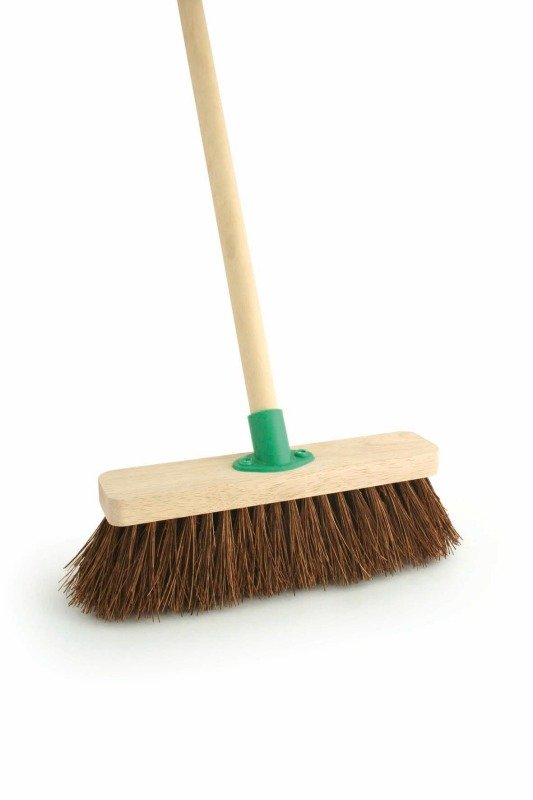 Image of Bassine 12 Inch Stiff Broom with Handle F.10/Black T/C4