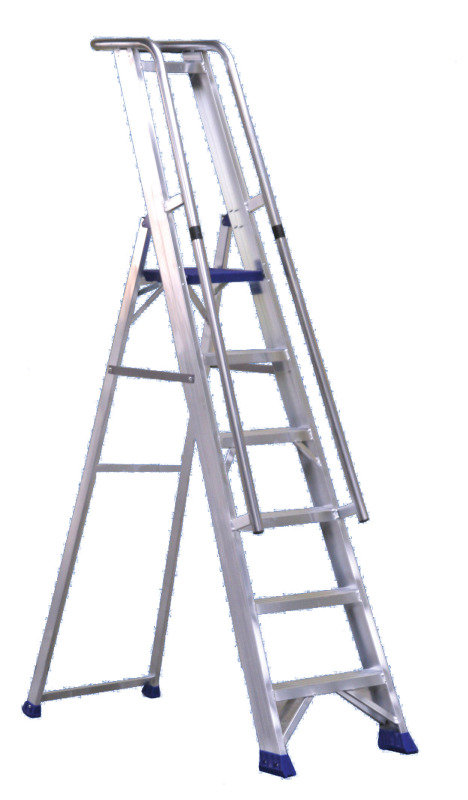 Aluminium Step Ladder with Platform  7 Steps
