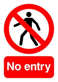 Extra Value A5 PVC Safety Sign - No Entry