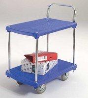 GPC Blue 2 Tier Plastic Platform Trolley (Pack of 1)