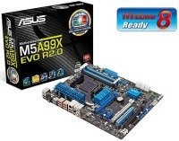 Asus M5A99X EVO R2.0 990X Socket AM3+ 8 Channel Audio ATX Motherboard