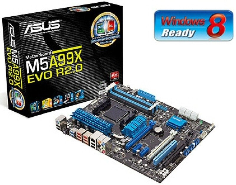 Asus M5A99X EVO R2.0 990X Socket AM3 8 Channel Audio ATX Motherboard