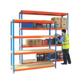Heavy Duty Painted Additional Shelf 1800x900mm Orange/Zinc