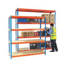 Heavy Duty Painted Additional Shelf 1800x900mm Orange/Zinc