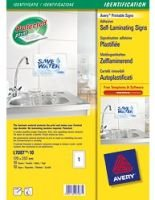 AVERY SELF LAM ADHESIVE LABEL WHT L7087