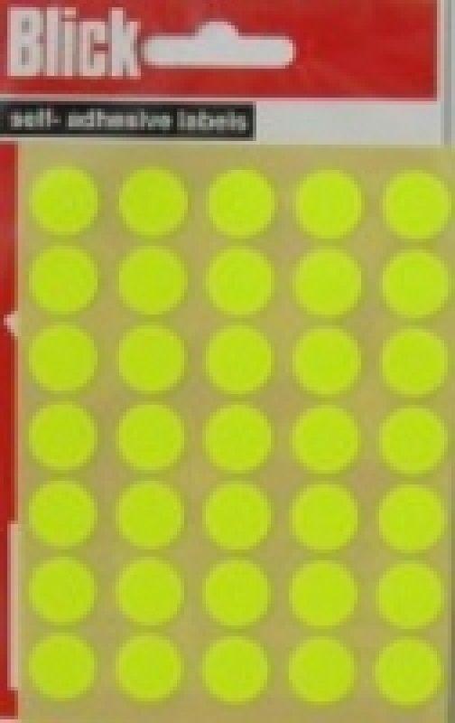 Blick Label Fluo Bag 13Mm Ylw 140 004752 - 20 Pack