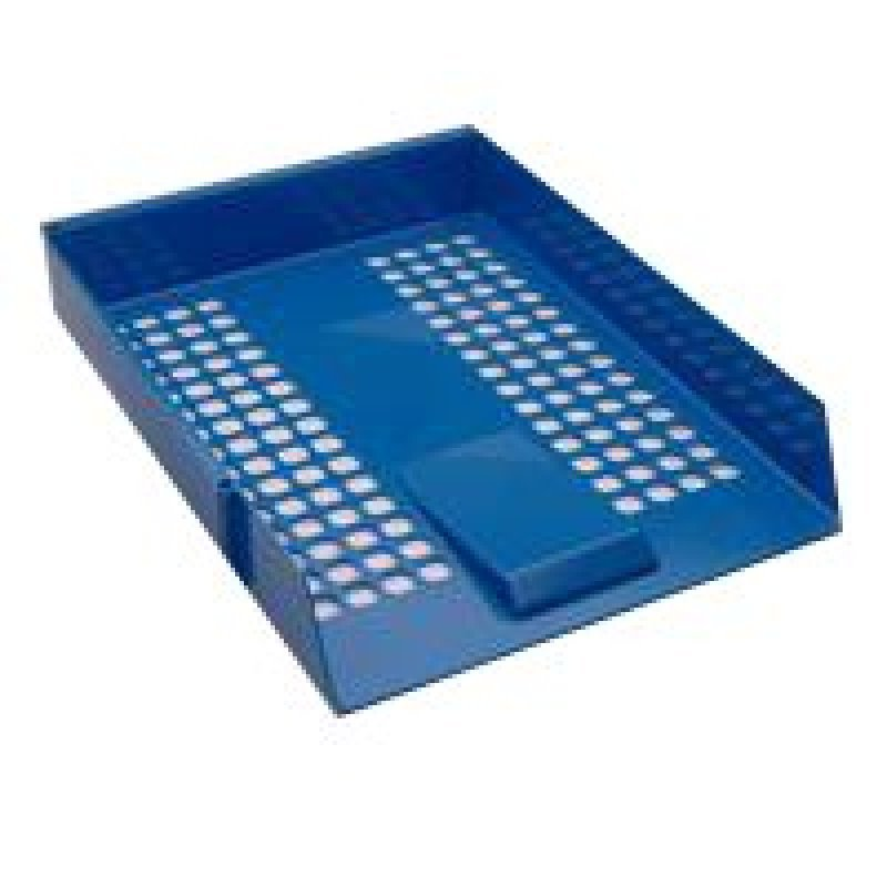 Extra Value Blue Plastic Letter Tray - 12 Pack