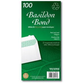 BASILDON BOND DL WLT 100G WHITE PK100