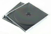 Q CONNECT CD JEWEL CASES BLACK/CLEAR P10