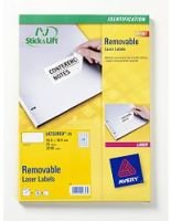 Avery Removable Laser Labels- Pack of 25