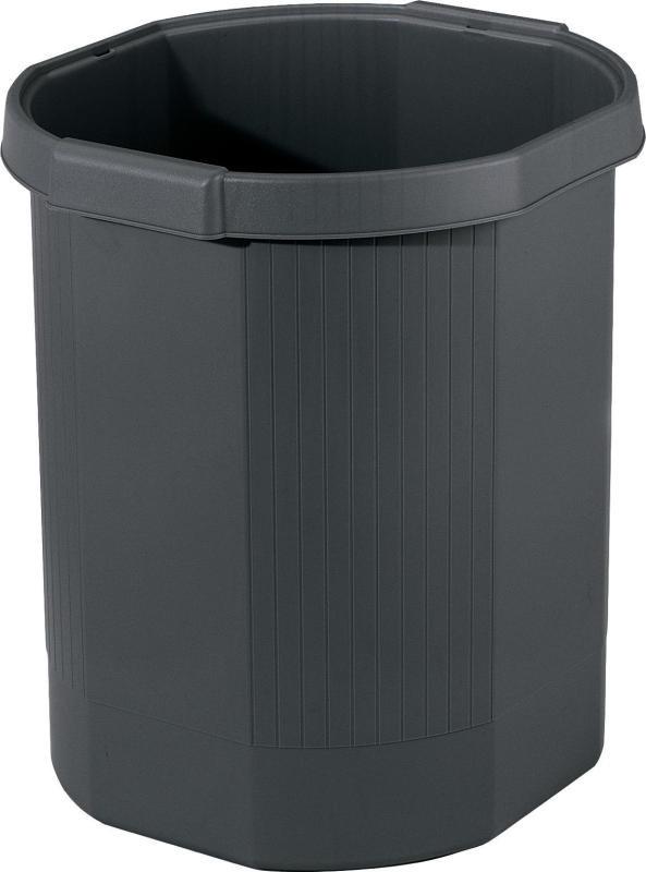 Image of Forever Black 18 Litre Waste Bin (Pack of 1)