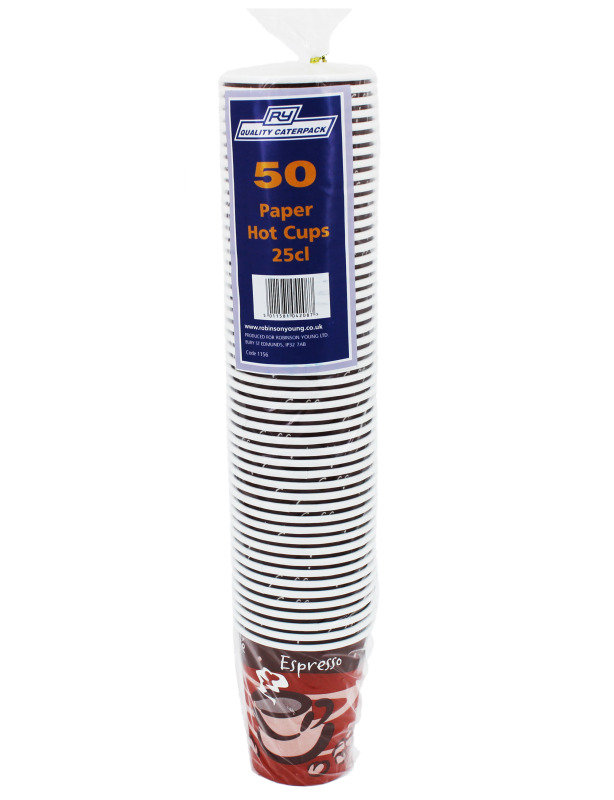 RY Caterpack 8oz 25cl Hot Cup Pk 50