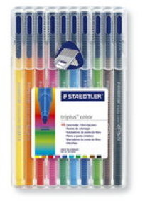 TRIPLUS COLOR PENS ASSORTED PK10
