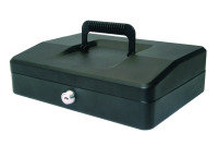 HELIX 25CM SLOPING LID CASH BOX BLACK