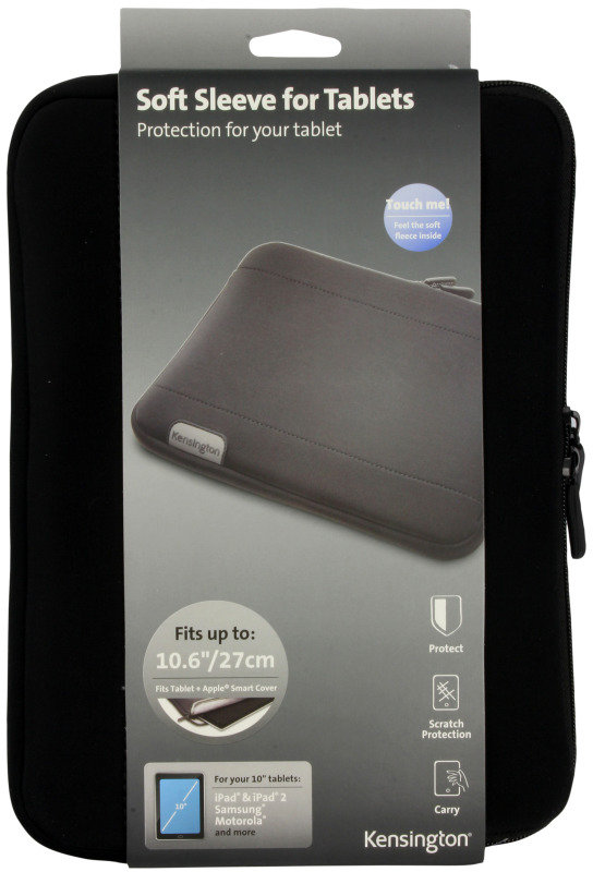 "Image of Kensington Soft Sleeve For Tablets up to 10"" - Black"
