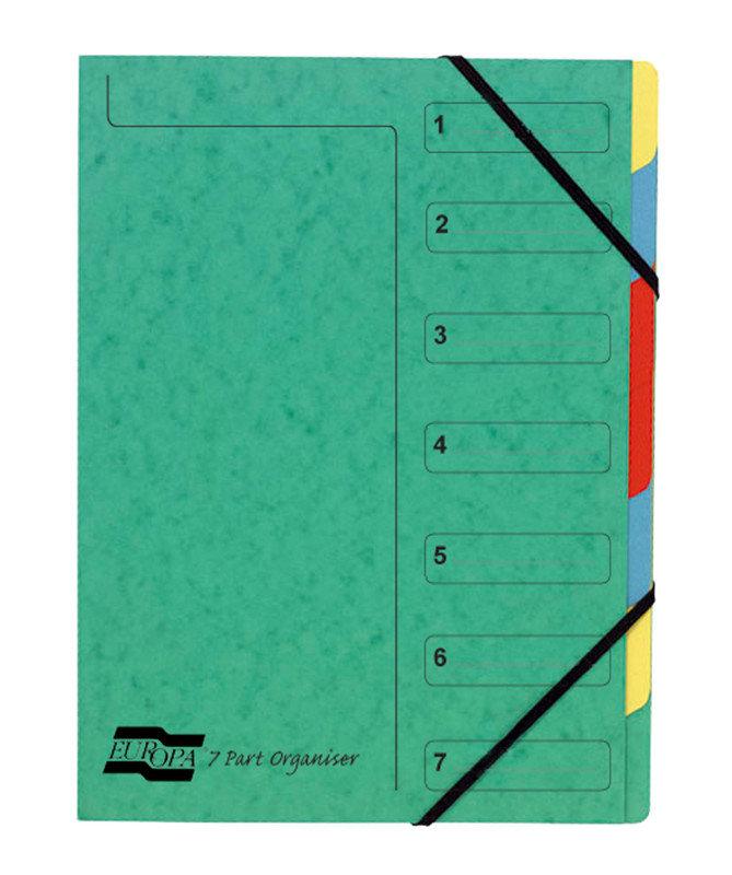 EUROPA 7PART ORGANISER GREEN 5220Z