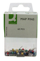 Q Connect Map Pins Pk60 - 10 Pack